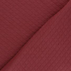 Tissu jersey matelassé losanges 10/20 - Tomette x 10cm