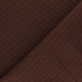 Tissu jersey matelassé losanges 10/20 - Marron x 10cm