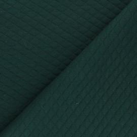Tissu jersey matelassé losanges 10/20 - Vert x 10cm
