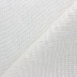 Tissu toile de lin Excellence  - blanc cassé x 10cm