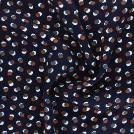 Twill viscose fabric - navy blue Éclipse x 10 cm