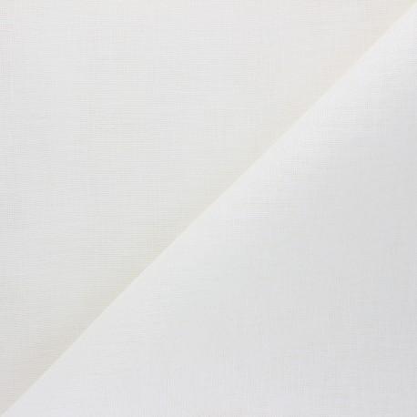 Tissu lin étamine Calma - blanc cassé x 10cm