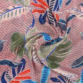 Viscose Fabric - red Moira x 10cm