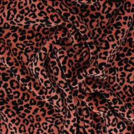 Terry-cloth jersey fabric - terracotta Nicky x 10cm