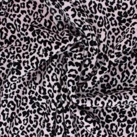 Tissu jersey velours éponge Nicky - eau de rose x10cm