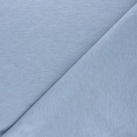 Bi-face plain neoprene fabric Scuba - blue x 10cm