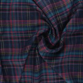 Tissu rayonne Édimbourg - rose x 10cm