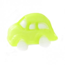 Polyester button, car - lime