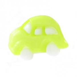 Polyester button, car - lime