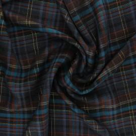 Tissu rayonne Édimbourg - marron x 10cm