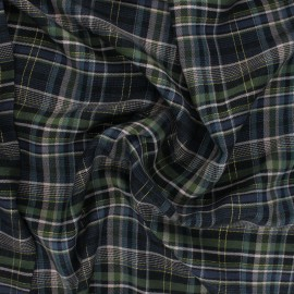 Rayon fabric - green Édimbourg x 10cm