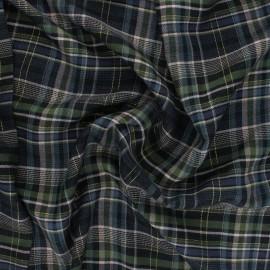 Tissu rayonne Édimbourg - vert x 10cm