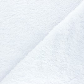 Cotton sheep fur fabric - white x 10cm