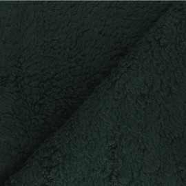 Cotton sheep fur fabric - pine green x 10cm