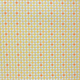 Petit Pan coated cotton fabric - yellow Helium x 10cm