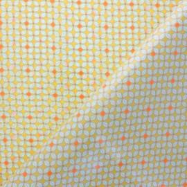 Petit Pan coated cotton fabric - yellow Helium x 10cm