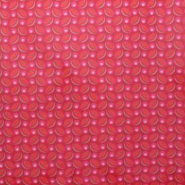 Petit Pan coated cotton fabric - pink Cereal x 10cm