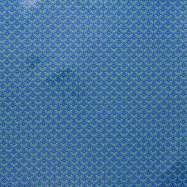 Tissu coton enduit Petit Pan Zazen - bleu x 10cm