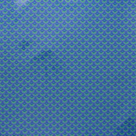 Petit Pan coated cotton fabric - blue Zazen x 10cm