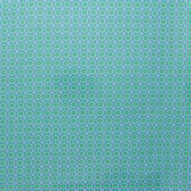 Petit Pan coated cotton fabric - green Mikko x 10cm
