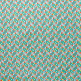 Tissu coton enduit Petit Pan Sunset - vert x 10cm