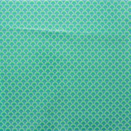 Petit Pan coated cotton fabric - green Zazen x 10cm