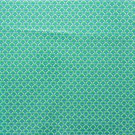 Tissu coton enduit Petit Pan Zazen - vert x 10cm