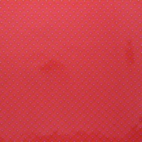 Petit Pan coated cotton fabric - pink Zazen x 10cm
