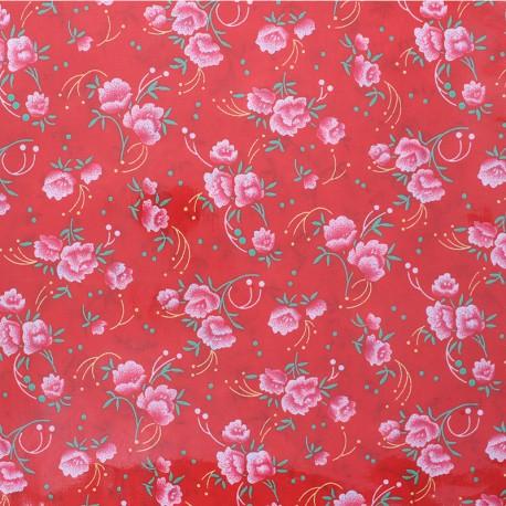 Pivoine Petit pan Oeko-Tex coated cotton fabric - red x 10cm