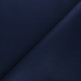 Dry Waxed Cotton Fabric - Navy blue x 10cm