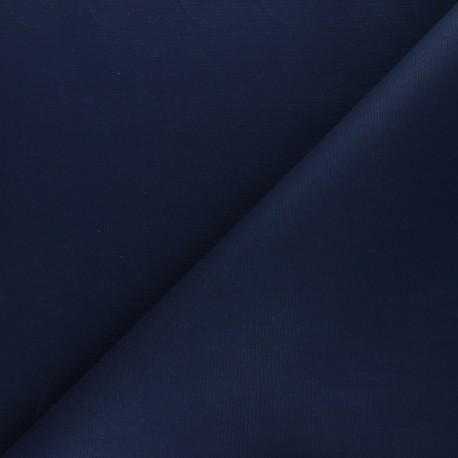 Dry Waxed Cotton Fabric - Navy blue x 10cm