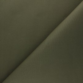 Dry Waxed Cotton Fabric - khaki green x 10cm