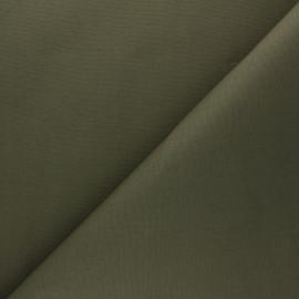 Tissu Mind the Maker Coton ciré - vert kaki x 10cm