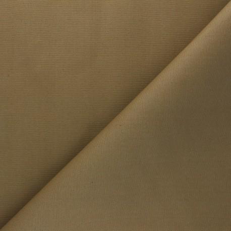 Dry Waxed Cotton Fabric - sand x 10cm