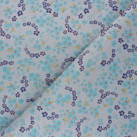 Petit Pan cotton fabric - grey Hanako x 10cm