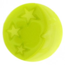 Moon button - lime