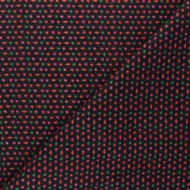 Patterned cotton fabric - black Girly x 10cm