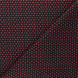Tissu coton Girly - noir x 10cm