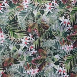 Patterned cotton fabric - green Jaya x 10cm