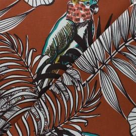 Tissu toile de coton Guatemala - terracotta x 50 cm