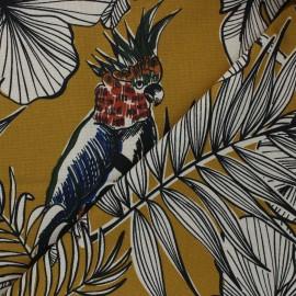 Tissu toile de coton Guatemala - jaune moutarde x 50 cm