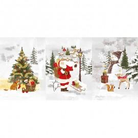 Tissu toile de coton panneau - Avent x 73 cm