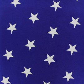 Poppy cotton Fabric - Navy blue Big white star x 10cm
