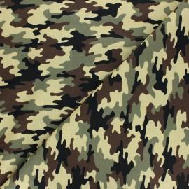 Cotton poplin fabric - khaki green Small Camouflage x 10cm