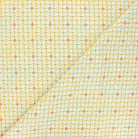 Petit Pan cotton fabric - yellow Helium x 10cm