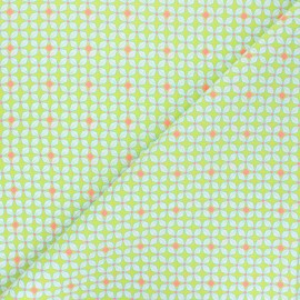 Petit Pan cotton fabric - lime green Helium x 10cm