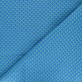 Petit Pan cotton fabric - blue Zazen x 10cm