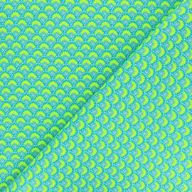 Tissu coton Petit Pan Wasabi - bleu x 10cm