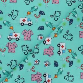 Tissu polyester pour masque Allo docteur - vert d'eau x 10cm