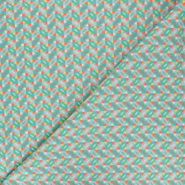 Petit Pan cotton fabric - green Sunset x 10cm